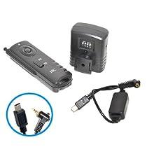 Radio-télécommande JJC JM-K pour Fuji IS1 X-S1, HS20EXR, HS22EXR, HS30EXR, S20, S200EXR, S205EXR, S9000, S9100, S9500, S9600 y compris piles de qualité de Varta/Panasonic