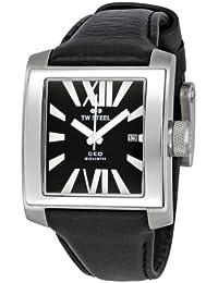 TW Steel CE3004 - Reloj analógico de cuarzo unisex con correa de piel, color negro