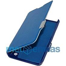 Funda carcasa flip cover tipo Libro para NOKIA LUMIA 630 / 635 Cuero cierre con iman Color AZUL