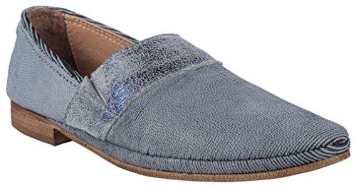 Charme Slipper (Charme Damen Slipper Textil Blau (36 EU))