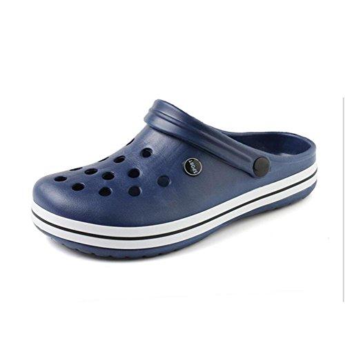 Chaussures de jardin pour hommes Tongues De plein air Des sandales Accueil Chaussons Été Plage Baotou Chaussures 2 achetés 1 offert blue