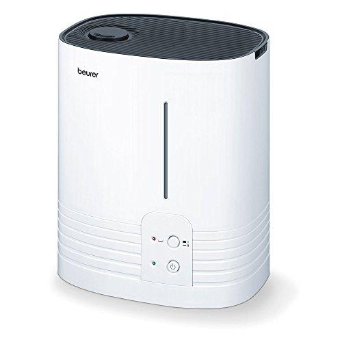 Beurer LB 55 Luftbefeuchter / Verdampfer für mehr Luftfeuchtigkeit / besonders hygienisch durch Warmwasser-Verdampfungstechnologie / für Räume bis 50 m² / auch für Schlafzimmer und Kinderzimmer