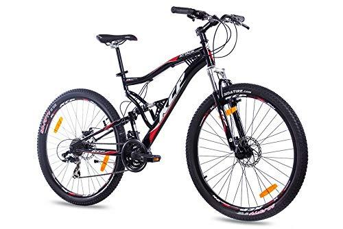 KCP 27,5 Zoll Mountainbike Fahrrad - MTB Attack schwarz - Vollfederung Mountain Bike Unisex für Herren, Damen oder Jungen, MTB Fully mit 21 Gang Shimano Schaltung und Zwei Scheibenbremsen -