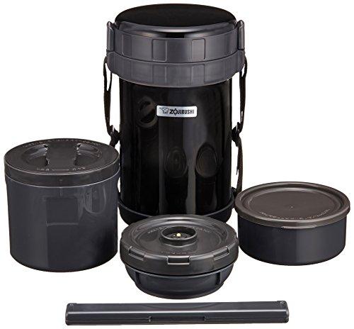 ZOJIRUSHI Mittagessen Edelstahl Classic Vorratsdose, 49Oz, Schwarz Classic Storage Jar