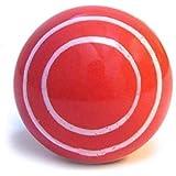 Pomo de Cerámica Roja y Rayas Blancas para Cajones, Armarios, Gabinetes