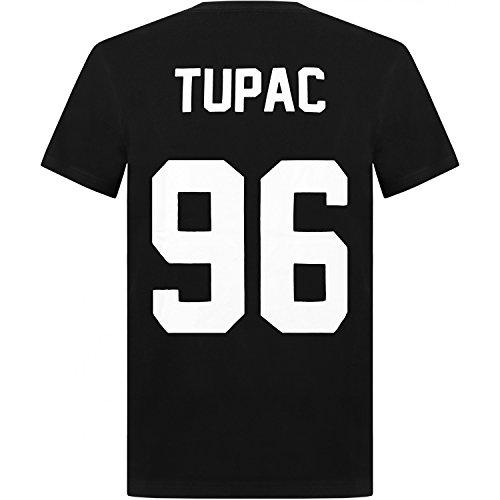 """T-Shirt mit Schriftzug """"Tupac 96"""", Unisex, Hip Hop-Legende, Rap, Zoo Biggie Gr. Größe L, schwarz"""