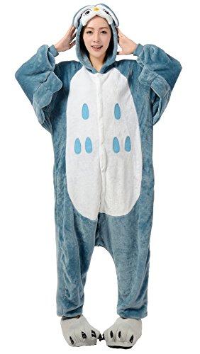Nicetage Cosplay Onesie Jumpsuits Anime Kostuem Erwachsene Pyjama Overall Hausanzug Kigurum Eule L (Eule Kostüm Erwachsene)