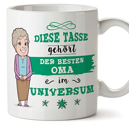 Oma Tasse/Becher/Mug Geschenk Schöne and lustige kaffetasse - Diese Tasse gehört der besten Oma im Universum - Keramik 350 ml
