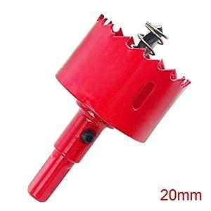 ZAK168 M42 – Brocas para sierra perforadora (20-100 mm, herramienta para cortar madera y yeso, metal), As Picture Show, 80 mm