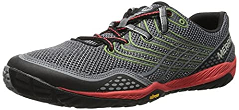 Merrell Trail Glove 3, Chaussures de sports extérieurs homme - Gris (Grey/Red), - FR:44 (Taille fabricant: 9.5 UK)
