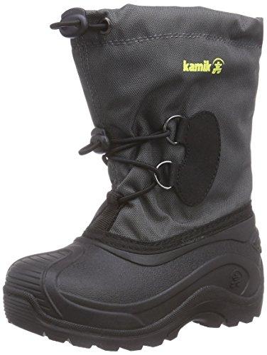 Kamik SOUTHPOLE3 - Stivali da neve con caldo rivestimento interno Unisex bambino, colore Grigio (Gris (charcoal-gris / Cha)), taglia 25