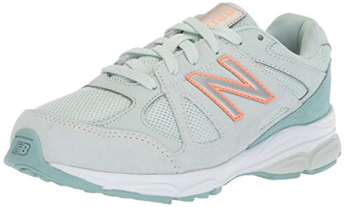 New Balance Girls' 888v1 Running Shoe, Ocean Air/Dragonfly, 1.5 XW US Little Kid