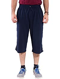 Lingo Men's Hosiery Three Fourths Capri - Navy Blue