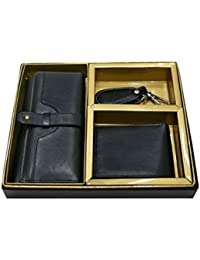 [Sponsored]Vanalika Combo Of Gents Wallet,Ladies Wallet And Key Chain(Gift Set Made Of Leather)