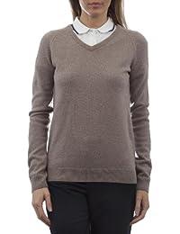 Glenmuir - Golf jersey de lana con cuello pico para mujer