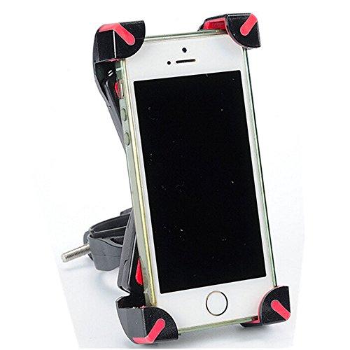Fahrrad Handy Halterung, WEANT hochwertigem Kunststoff Universal Motorrad MTB Bike Fahrrad Lenker Halterung Halter für 10,2cm zu 17,5cm Handy, rot (Versorgt Radfahren)