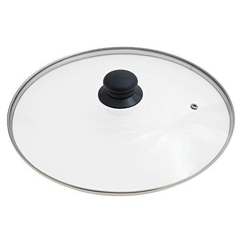 Oryx 5023435 - coperchio di vetro per padella, 30 cm, bordo in acciaio inox, trasparente