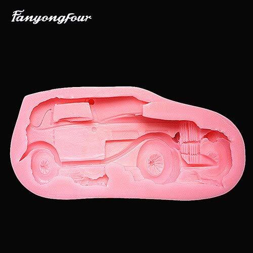 FIOLTY 3D Giallo Auto Sportive Torta Muffa della Muffa del Cioccolato del Gesso della Candela del Sapone Muffa Kitchen Bake Trasporto Libero: 005
