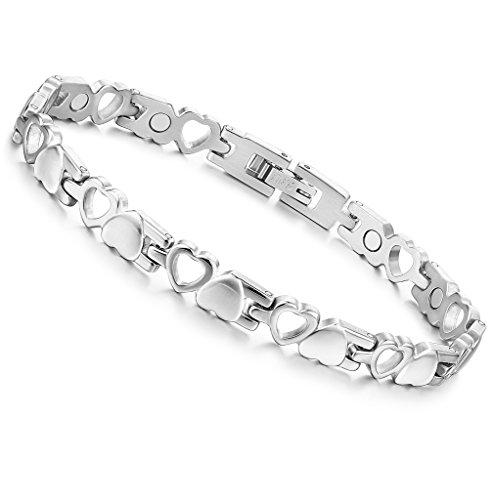 jstyle-gioielli-in-acciaio-inossidabile-bracciale-donna-cuore-argento-e-dorato-braccialetto-magnetic