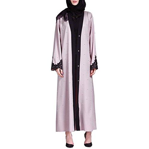 Manadlian Damen Kimono Muslim Abaya Dubai Kleider Für Frauen Islamischen Islamische Kleidung...