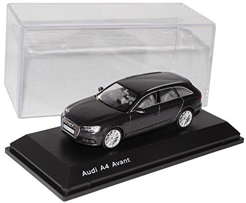Preisvergleich Produktbild Audi A4 B9 Avant Kombi Daytona Grau Schwarz Ab 2015 1/43 Spark Modell Auto mit individiuellem Wunschkennzeichen