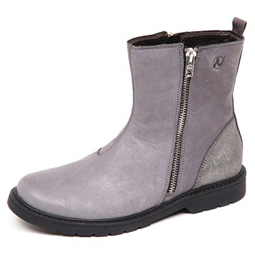 Naturino E2730 Stivale Bimba Grey Scarpe Biker Vintage Shoe Boot Kid Girl