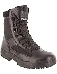 Highlander Mens Combat Military Black Army Patrol Hiking Cadet Work High Half Leather Boot All Sizes UK 4 - 13