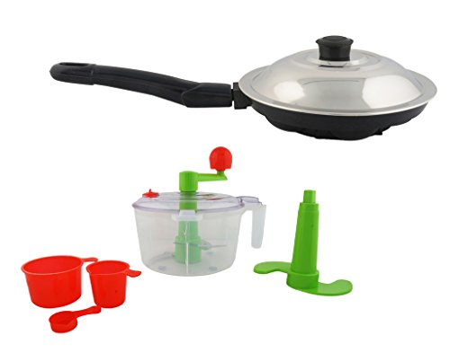 Magic's Max Non stick 7 Cavities appam Patra and Dough Maker/Atta Maker/Puri Maker/Chapati Maker/Paratha and vegitable Salad Maker(Pack Of2)  available at amazon for Rs.790