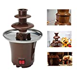 Mini Portable 3-tier Chocolate Fountain Machine Fondue Maker Heated PC Plastic Home Party Fountain EU Plug Regard - 4