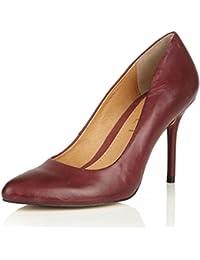 e967c1b8fb0b RAVEL - NEWTON Ladies Burgundy Deep Red Leather High slim Heel Pointed toe  Court Shoes size