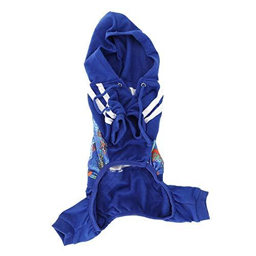 Pudel Muster Rock Kostüm - Naroote Haustier-Kleidung, Katzen-Hundewelpen-weiche atmungsaktive mit Kapuze Overall-Kleidungs-Freizeit-Abnutzung(XL)