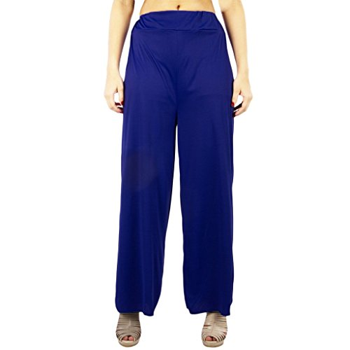 C&S Shopping Gallery Women's Blue Solid Plazo
