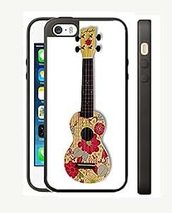Case Schutzrahmen hülse Ukulele Musicals UK5 Abdeckung für Iphone 5 5s Border Gummi Silikon Tasche Schwarz @pattayamart