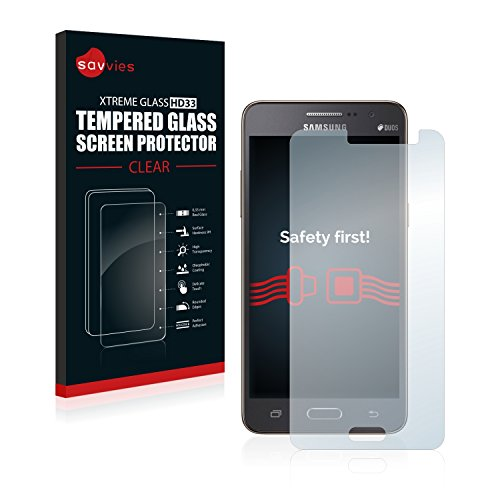 Savvies Panzerglas kompatibel mit Samsung Galaxy Grand Prime SM-G530H - Echtglas Schutzfolie 9H