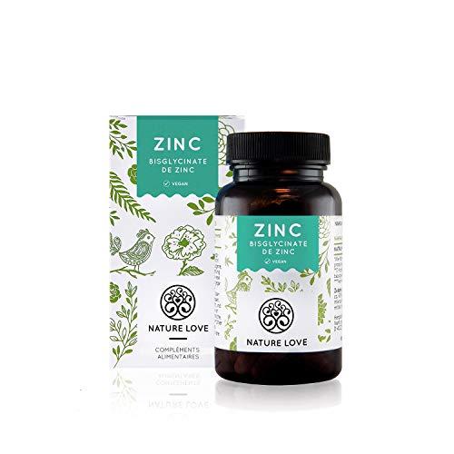 Zinc - 365 comprimés. Biodisponibiité élevée du bisglycinate de zinc (chélaté de zinc). Testé en laboratoire. Sans d'additifs alimentaires. Dosage élevé, végétalien, fabriqué en Allemagne.