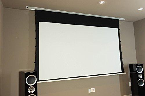 41ZTOAMSVbL - HiViLux para empotrar en techos hipertensión Motor lienzo UHD 4 K/3D/Full HD/ganancia 1,0 tela blanca profesional cine diapositiva/solo 13 cm instalación altura/con mando a distancia