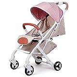 Pushchairs Kinderwagen Kombikinderwagen Buggy All Seasons Be Gebraucht Faltbares Leichtgewicht Kann Sich Allrads Hinlegen,Pink