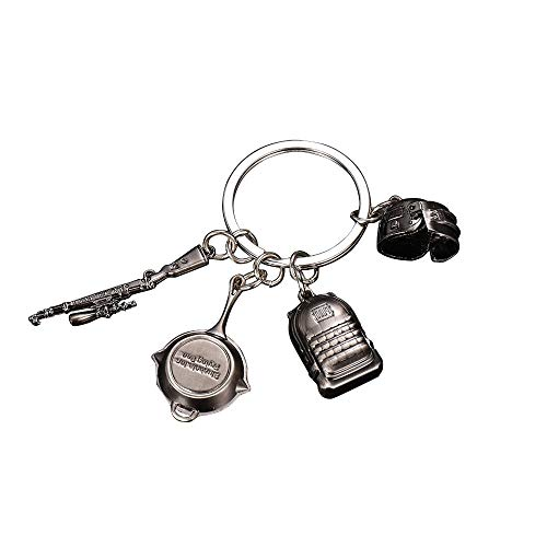 VAWAA Jeu Pubg Keychain Level 3 Casque Sac À Dos Saucepan Key Chain Fans Battle Grounds Keyring Gift
