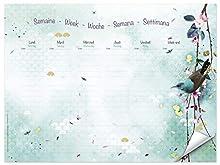 Clairefontaine 115599C Sakura dream, Settimanale, blocco incollato in testa, 55 fogli staccabili, 30 x 40 cm.