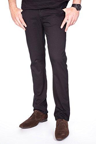 Redman Texan Rubin-Pantalon droit toile Homme Noir