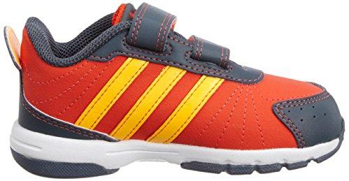 Adidas - Adidas Snice 3 CF I Scarpe Bambino Arancio Pelle Strappi M20085 Orange
