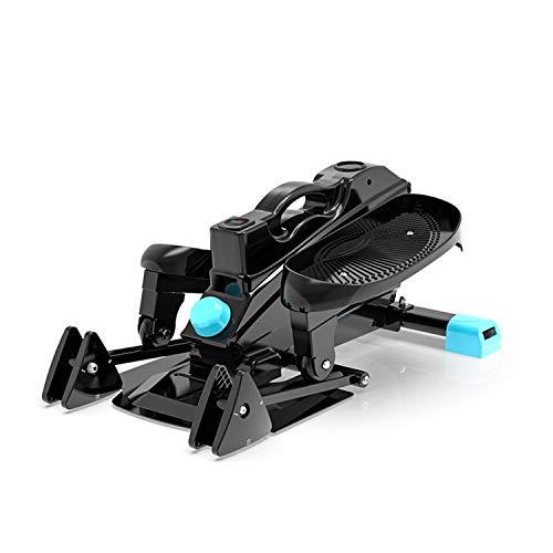 Zwbdb Stepper Stepper, mit LCD-Monitor und Widerstand Bands Twist Stepper, Maschinen Beine Arme Oberschenkel Training Fitness Fat Burning Sportgerät
