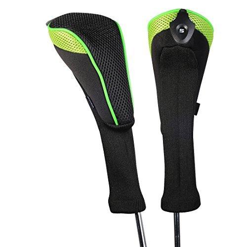 Andux 2Stück Langer Hals Hybrid-Golfschläger, mit Zahlendrehrad ctmt-01, grün (Hybrid Golfschläger Ping)