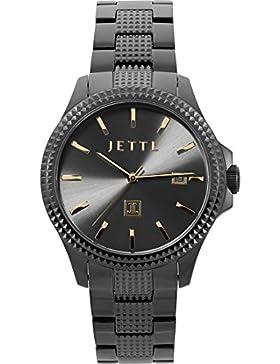 JETTE Time Damen-Armbanduhr Time Analog Quarz One Size, schwarz, schwarz
