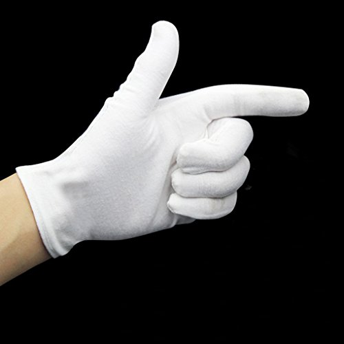 """Provide The Best 1 Paar weißen Baumwollhandschuhe Größe 6.7 """"-9.4"""" für Münzen Schmuck Silber Inspection Hotelbetreuungs"""