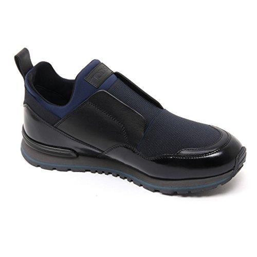 B7309 sneaker uomo TOD'S scarpa running neoprene nero/blu shoe man Nero/Blu