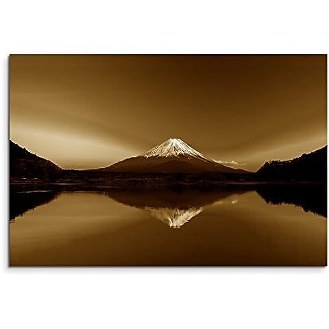 100X 70Cm imagen Sepia Amanecer Montaña Fuji Japón