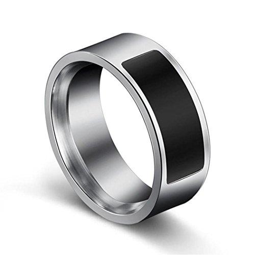 TPulling Mode NFC Smart Verschleißring Smart Armband Intelligente Armbanduhr Smart Watch NFC Multifunktionale Wasserdichte Intelligente Ring Smart Wear Finger Digital Ring (G)