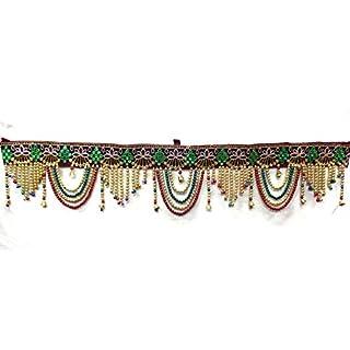 Amba Handicraft Door Hanging Toran Window Valance Dream Catcher Home Décor interior pooja bandanwaar Diwali gift festival colorful indian handicraft love.TORAN104