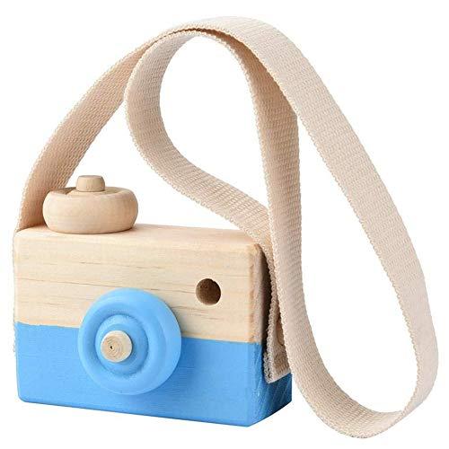 omufipw Mini Juguete de la cámara de Madera de la Almohada de los niños Que cuelga la decoración del Regalo del Juguete portátil